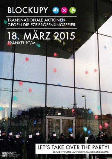 Blockupy-Aufruf: Transnationale Aktionen gegen die EZB-Eröffnungsfeier