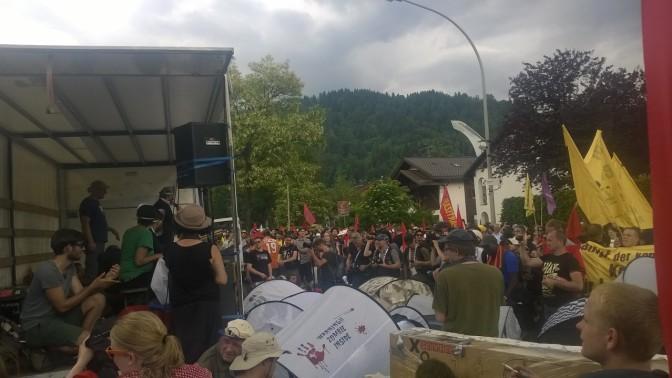 G7 Gipfel Elmau: Bilder Demonstration Samstag