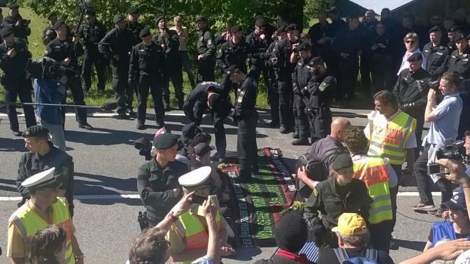 Fotostrecke #G7 Elmau: Blockade der B2